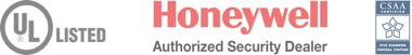 UL Listed, Honeywell Authorized Security Dealer, CSAA